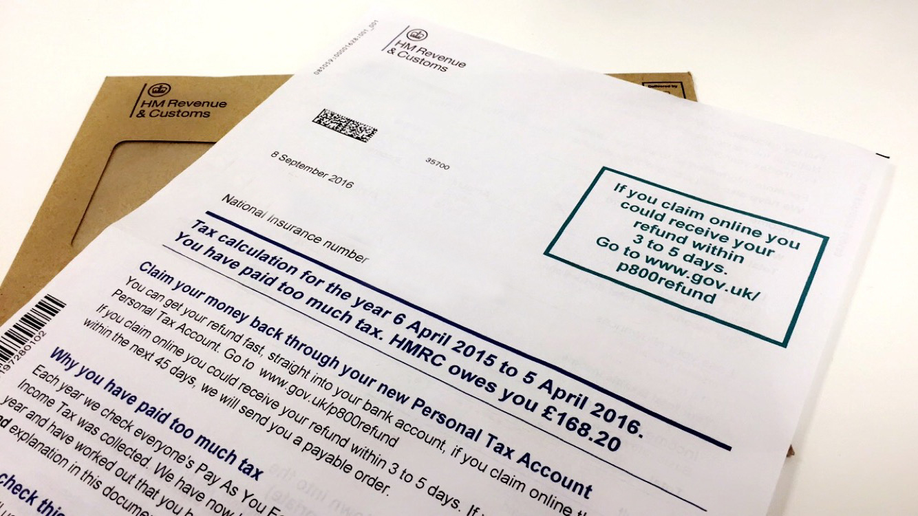 Hmrc Claim Tax Back >> How To Claim And Increase Your P800 Refund Taxrebates Co Uk